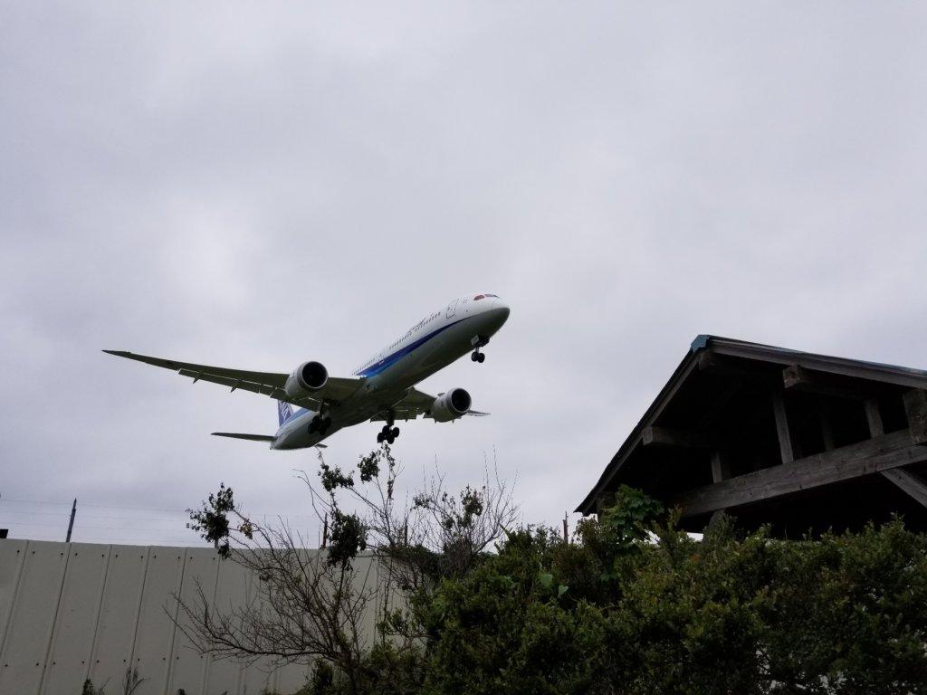 東峰神社 飛行機